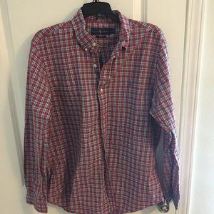 Ralph Lauren Plaid Button Down Shirt. Sz. Large